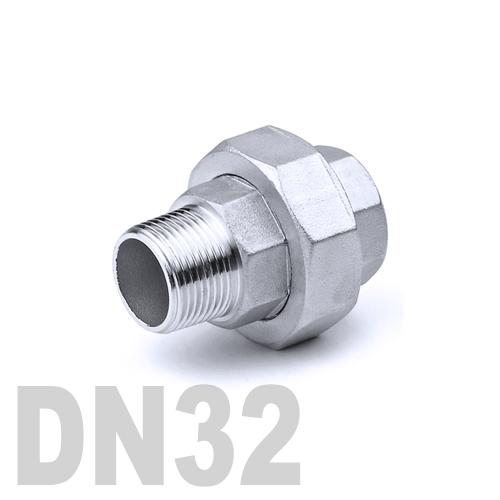 Муфта американка нержавеющая [нр / вр] AISI 304 DN32 (42.4 мм)