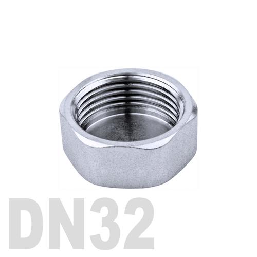 Заглушка колпачок нержавеющая шестигранная [вр] AISI 304 DN32 (42.4 мм)