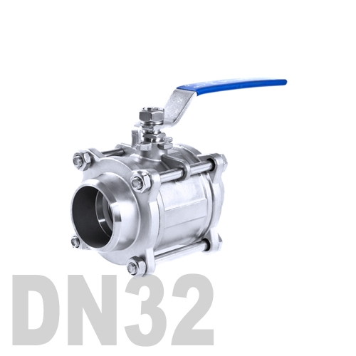 Кран шаровой сварной нержавеющий AISI 304 DN32 (42.4 мм)