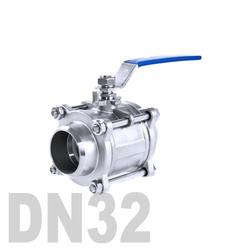 Кран шаровой сварной нержавеющий AISI 316 DN32 (42.4 мм)