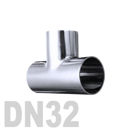 Тройник нержавеющий приварной AISI 316 DN32 (35 x 1.5 мм)