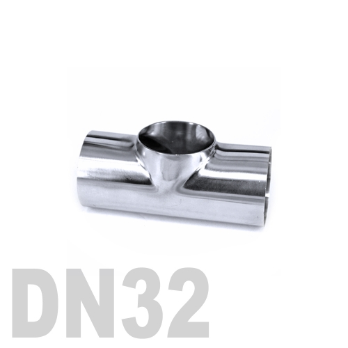 Тройник нержавеющий приварной AISI 304 DN32 (38 x 3 мм)