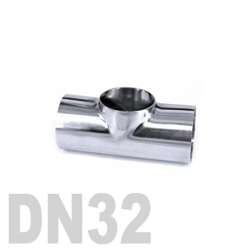 Тройник нержавеющий приварной AISI 316 DN32 (38 x 3 мм)