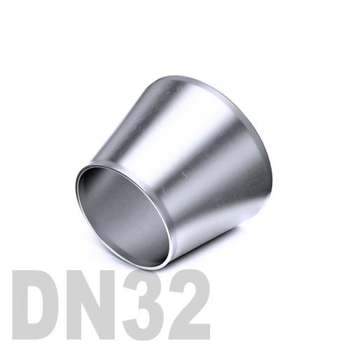 Переход концентрический нержавеющий приварной AISI 304 DN32x25 (34,0 x 28,0 x 1,5 мм)
