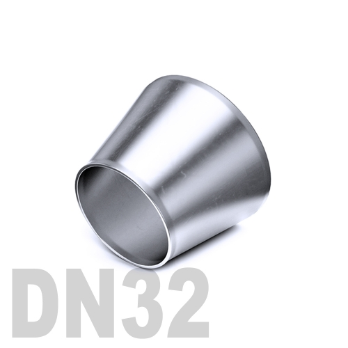 Переход концентрический нержавеющий приварной AISI 316 DN32x20 (35,0 x 23,0 x 1,5 мм)