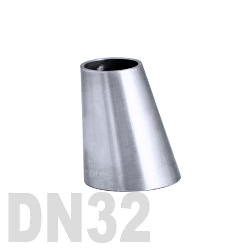 Переход эксцентрический нержавеющий приварной AISI 304 DN32x25 (35,0 x 29,0 x 1,5 мм)