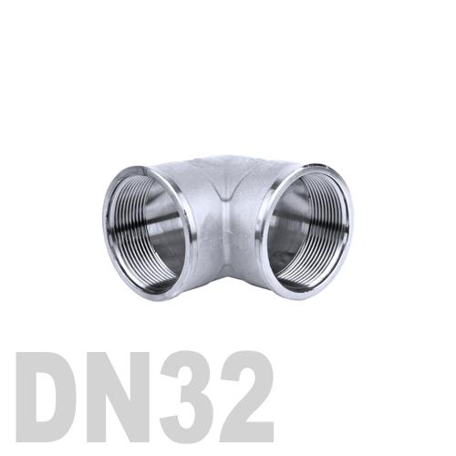 Отвод нержавеющий  90° [вр / вр] AISI 304 DN32 (42.4 мм)