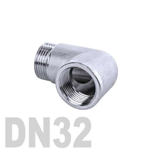 Отвод нержавеющий  90° [вр / нр] AISI 304 DN32 (42.4 мм)