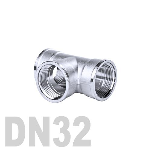 Тройник нержавеющий [вр / вр / вр] AISI 316 DN32 (42.4 мм)