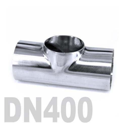 Тройник нержавеющий приварной AISI 316 DN400 (406.4 x 3 мм)