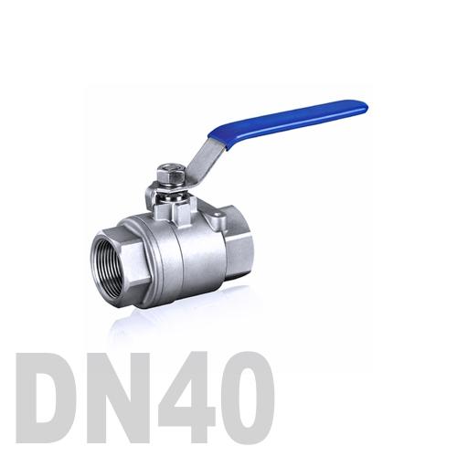 Кран шаровой муфтовый нержавеющий AISI 316 DN40 (48.3 мм)
