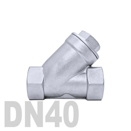 Клапан обратный муфтовый угловой нержавеющий AISI 316 DN40 (48.3 мм)