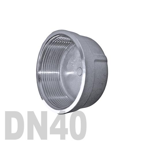 Заглушка колпачок нержавеющая [вр] AISI 304 DN40 (48.3 мм)