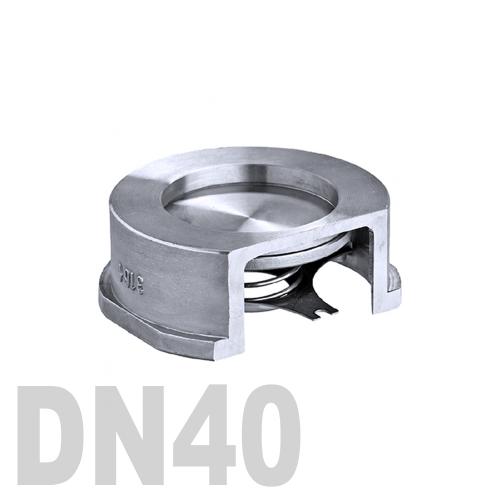 Клапан обратный межфланцевый нержавеющий AISI 316 DN40 (48.3 мм)