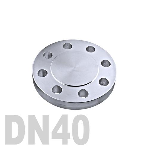 Фланцевая нержавеющая заглушка AISI 316 DN40 (40 мм)