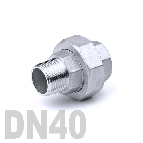 Муфта американка нержавеющая [нр / вр] AISI 316 DN40 (48.3 мм)