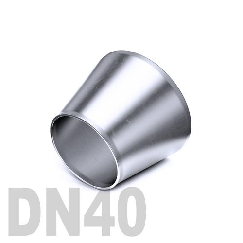 Переход концентрический нержавеющий приварной AISI 304 DN40x25 (38 x 25 x 1,5 мм)