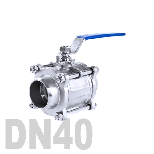 Кран шаровой сварной нержавеющий AISI 304 DN40 (48.3 мм)