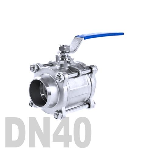 Кран шаровой сварной нержавеющий AISI 316 DN40 (48.3 мм)