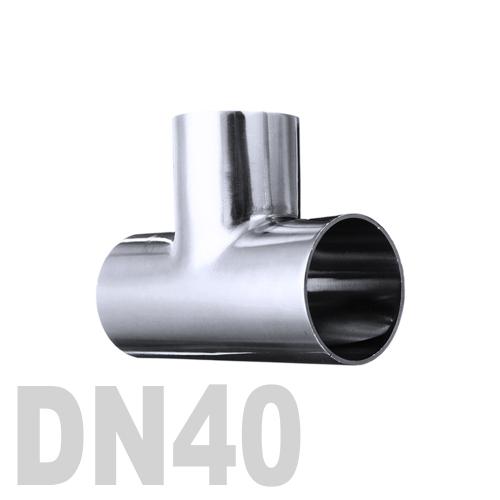 Тройник нержавеющий приварной AISI 316 DN40 (40 x 1.5 мм)