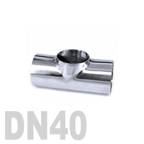 Тройник нержавеющий приварной AISI 316 DN40 (48.3 x 3 мм)