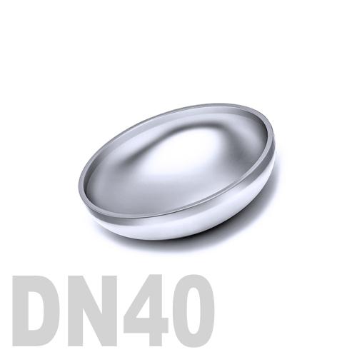 Заглушка нержавеющая эллиптическая  приварная AISI 304 DN40 (40,0 x 2,0 мм)