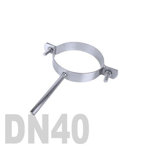 Хомут трубный нержавеющий на ножке AISI 304 DN40 (48,3 x 2,0 мм)