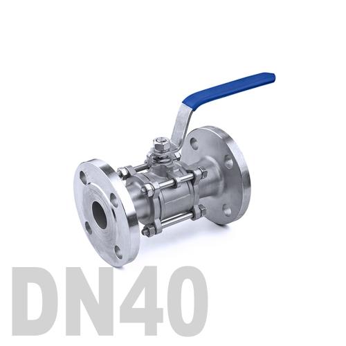 Кран шаровый фланцевый нержавеющий AISI 304 DN40 (48.3 мм)