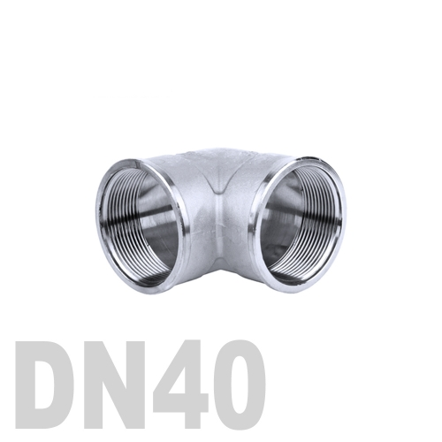 Отвод нержавеющий  90° [вр / вр] AISI 316 DN40 (48.3 мм)