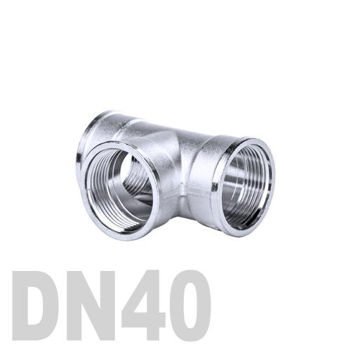 Тройник нержавеющий [вр / вр / вр] AISI 316 DN40 (48.3 мм)
