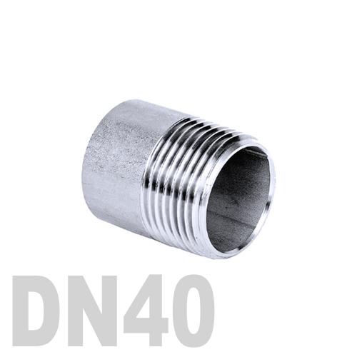 Ниппель нержавеющий приварной полусгон AISI 316 DN40 (48.3 мм)