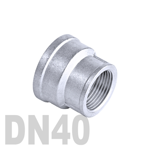 Муфта нержавеющая переходная [вр / вр]  AISI 304 DN40x32 (48.3 x 42.4 мм)