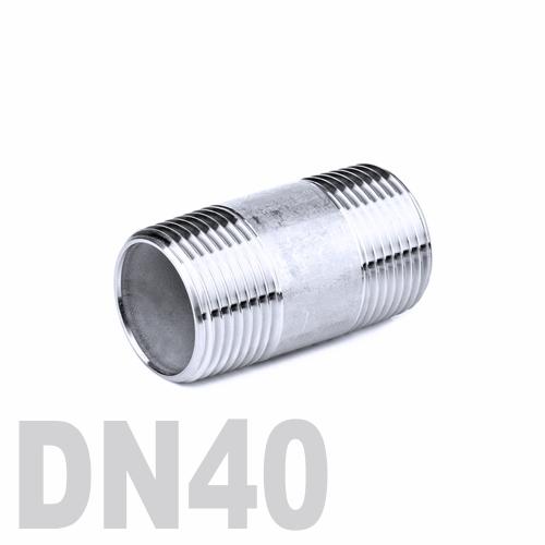 Бочонок нержавеющий [нр / нр] AISI 304 DN40 (48.3 мм)