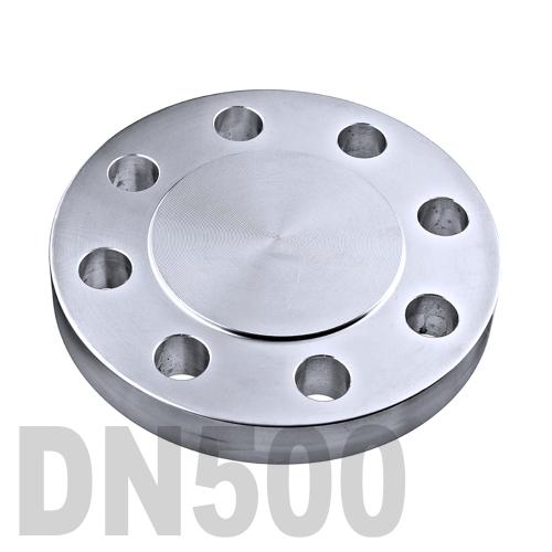 Фланцевая нержавеющая заглушка AISI 304 DN500 (508 мм)