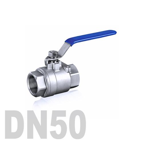 Кран шаровой муфтовый нержавеющий AISI 316 DN50 (60.3 мм)