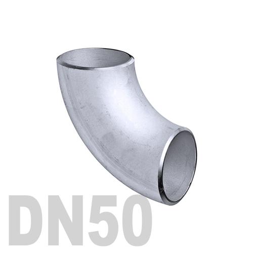 Отвод нержавеющий приварной AISI 304 DN50 (52 x 1.5 мм)