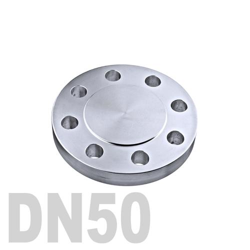 Фланцевая нержавеющая заглушка AISI 316 DN50 (60.3 мм)