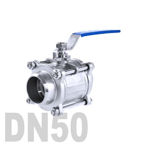 Кран шаровой сварной нержавеющий AISI 304 DN50 (60.3 мм)