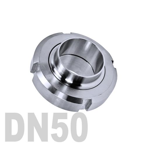 Муфта «молочная» в сборе нержавеющая AISI 304 DN50 (53 мм)