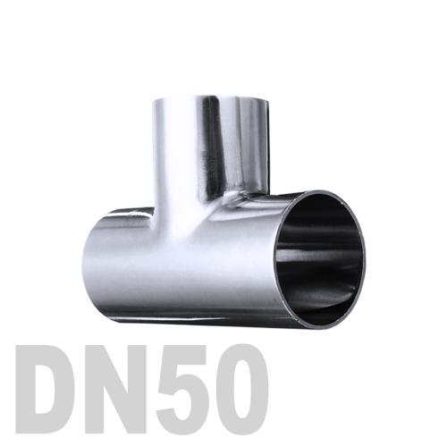 Тройник нержавеющий приварной AISI 316 DN50 (53 x 1.5 мм)