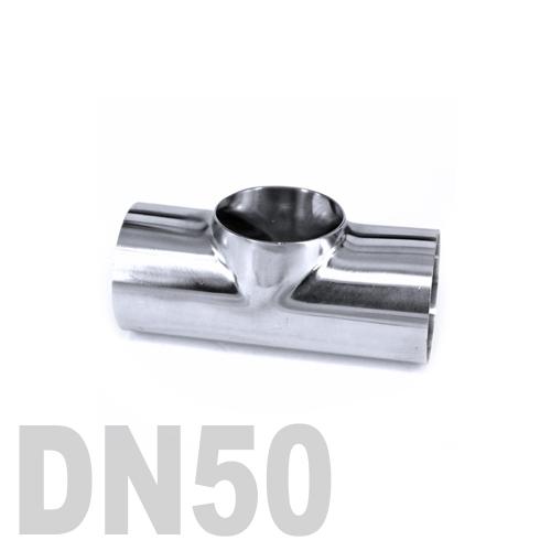 Тройник нержавеющий приварной AISI 316 DN50 (57 x 2 мм)