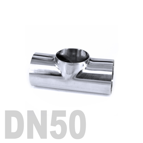 Тройник нержавеющий приварной AISI 316 DN50 (57 x 3 мм)