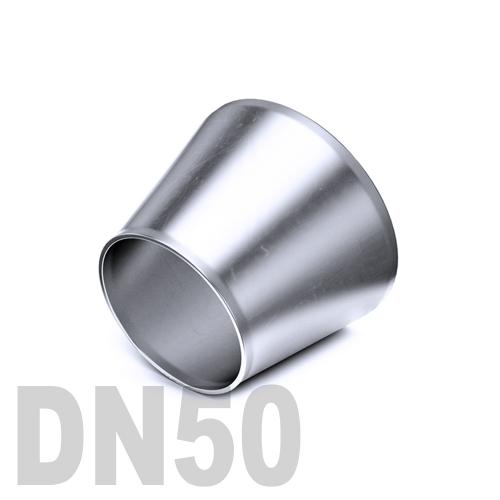 Переход концентрический нержавеющий приварной AISI 304 DN50x40 (52,0 x 40,0 x 1,5 мм)