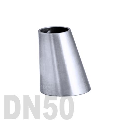 Переход эксцентрический нержавеющий приварной AISI 304 DN50x40 (53,0 x 41,0 x 1,5 мм)