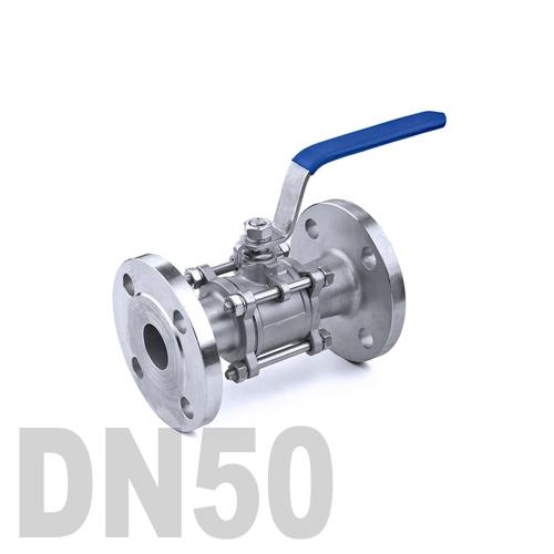 Кран шаровый фланцевый нержавеющий AISI 316 DN50 (60.3 мм)