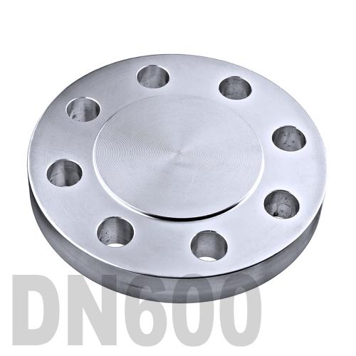 Фланцевая нержавеющая заглушка AISI 304 DN600 (609.6 мм)