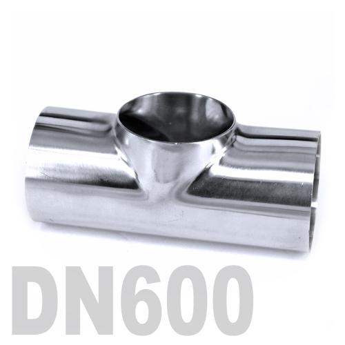 Тройник нержавеющий приварной AISI 316 DN600 (609.6 x 3 мм)