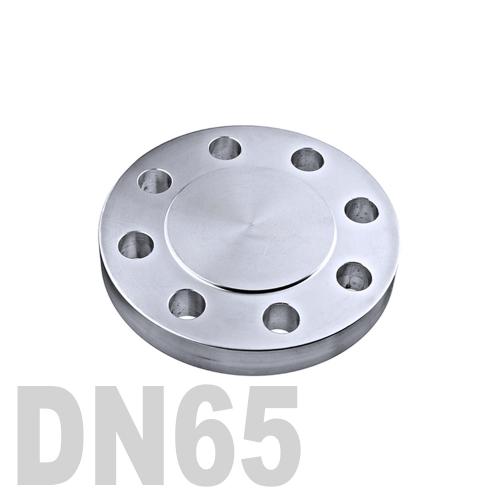 Фланцевая нержавеющая заглушка AISI 316 DN65 (70 мм)