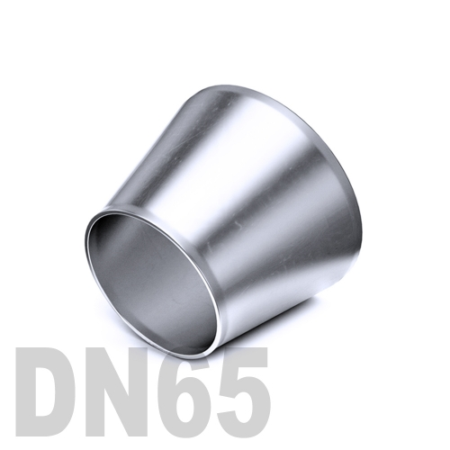 Переход концентрический нержавеющий приварной AISI 304 DN65x50 (76,1 x 60,3 x 2,0 мм)
