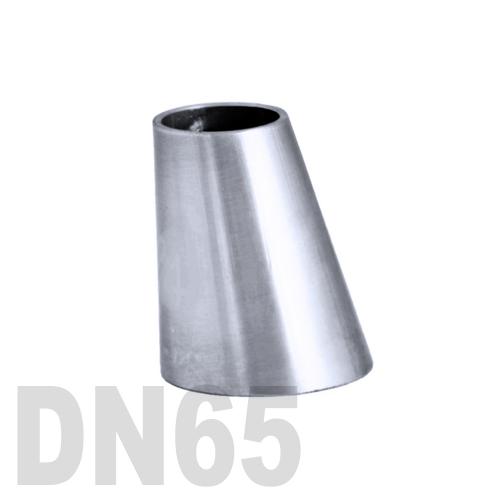 Переход эксцентрический нержавеющий приварной AISI 304 DN65x50 (70,0 x 53,0 x 2,0 мм)